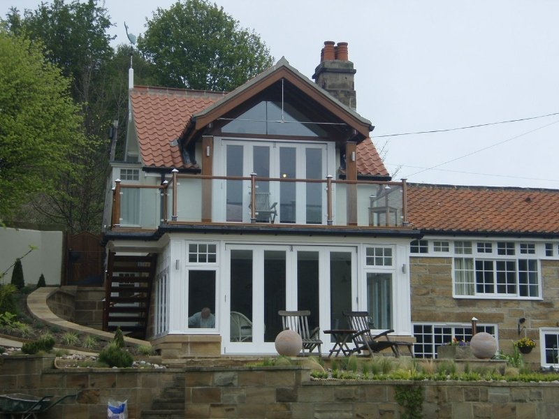 Garden room/ Balcony extension Holiday Cottage, Sandsend,  North Yorkshire